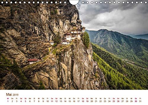 Monatskalender, 14 Seiten : Einblicke in ein geheimnisvolles Land Mystisches Bhutan Wandkalender 2019 DIN A3 quer CALVENDO Orte Tommy Seiter 3670256407 Asien Berge
