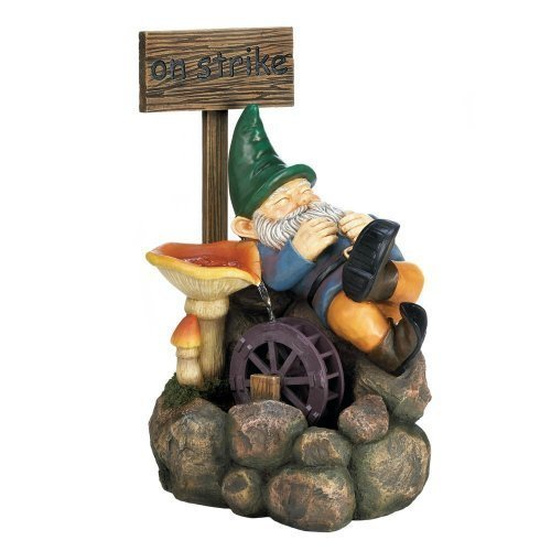 Home Locomotion On Strike Gnome Water Fountain