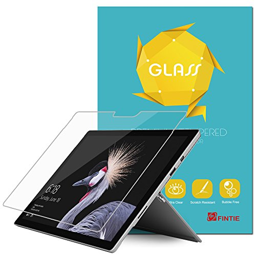 Fintie Surface Pro 6 Screen Protector - Tempered Glass Screen Protector [Anti-Scratch] [Crystal Clear] [Easy Installation], Compatible with Microsoft Surface Pro (5th Gen) / Surface Pro 4
