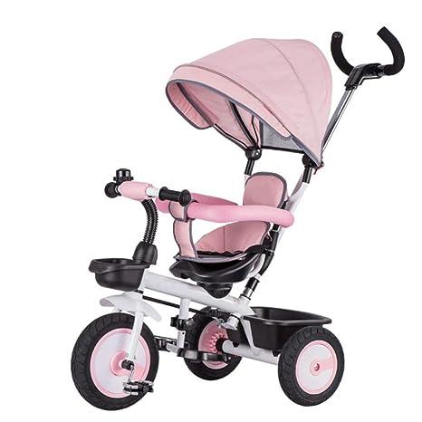 TH - 4 In1Triciclo para Niños Triciclo Baby Carro De Bebe, con Manillar Extraíble,
