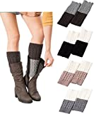 Vocni 4 Pack Womens Short Boots Socks Crochet Knitted Boot Cuffs Leg Warmers Socks,4 Pairs-style C