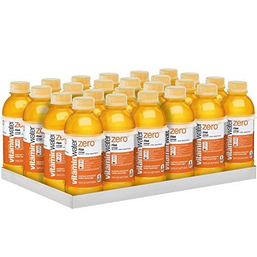 Orange Water - vitaminwater zero rise, electrolyte enhanced water w/ vitamins, orange drinks, 16.9 fl oz, 24 Pack