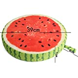 Soft Round Pillow Plush Cushion Fruit Watermelon Seat 3D Cushion Novelty Birthday Gift For Kids Friend Removable Washable