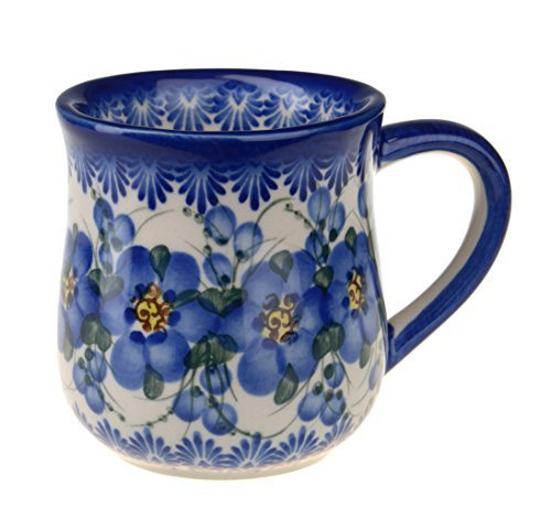 Classic Boleslawiec Pottery Hand Painted Ceramic Mug 350 ml 053-U-003