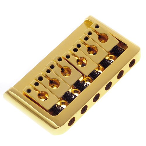 Kmise A1247 1 Pack BG-2002-D-GD Hardtail Electric Guitar Fixed Bridge, Gold
