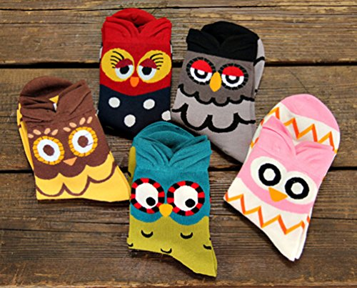 Chalier-5-Pairs-Womens-Cute-Animal-Socks-Colorful-Funny-Casual-Cotton-Crew-Socks