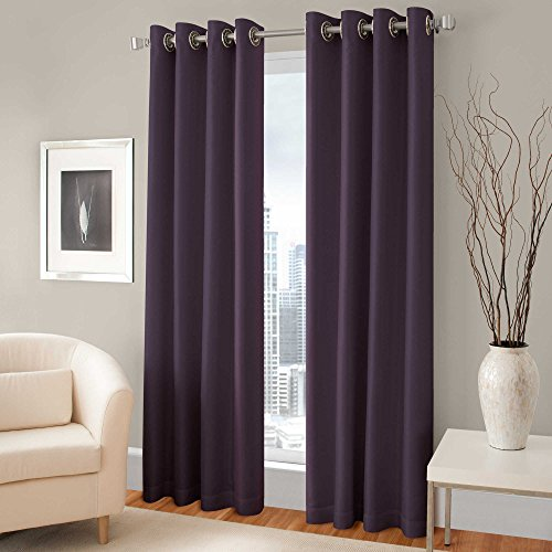 Gorgeous Home *DIFFERENT SOLID COLORS & SIZES* (#34) 1 PANEL SOLID THERMAL (Dark Plum)