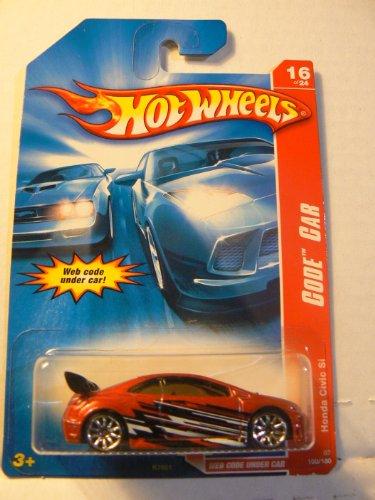 Hot Wheels Code Car 16 of 24 Honda Civic Si Red with 10 Spoke Wheels #100/180