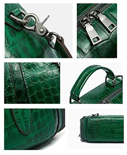 Shoulder Green Handbags Leather Ladies Bags Dark Oil Womens Saierlong Wax Designer wIq81xz
