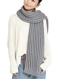 SOIXANTE écharpe Femme en Laine à Tricoter Foulard Chaude Tissu légèrement  Doux pour l hiver 67c19645bd9
