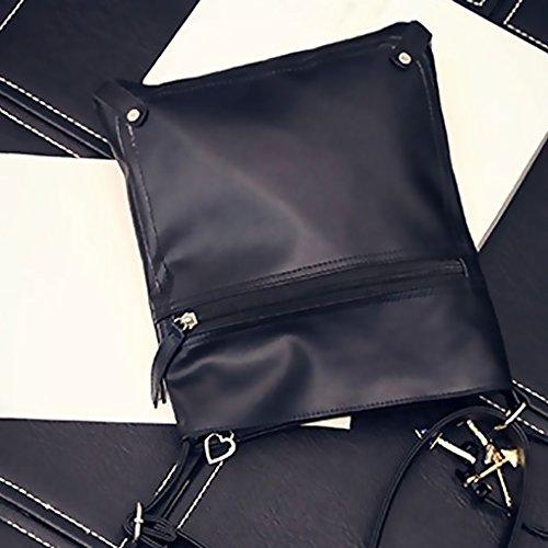 bandoulière à Solide à PU Casual glissière Messenger Sac Crossbody Couleur Sacs Simple Fille Fermeture ELENXS d0qZY4w4