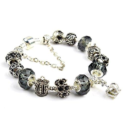 Crystal Bracelet New Ms. DIY Crown Pendant Beaded Jewelry Yiwu Trinket Wholesale oem,Daza,19cm in length