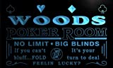 pd1107-b Woods Man Cave Poker Room Bar Neon Beer Sign