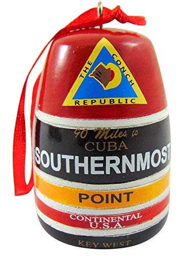 (Southernmost Point Buoy Replica Ornament Key West Christmas Tree Decoration, 2)