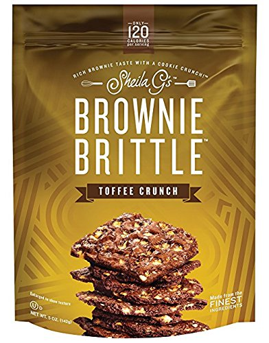 Sheila G Toffee Crunch Brownie Brittle, 5 Ounce - 12 per case.