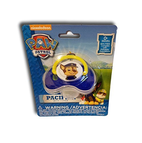 Paw Patrol pacifier with cover -- Blue/Chase (Paws Pacifier)