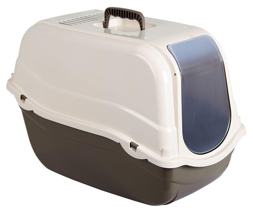 Kerbl Caja de arena Minka de 57 x 39 x 41/cm color marr/ón//crema