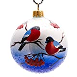 Hand-painted - Bullfinches Ball Christmas Ornament - Christmas Tree Decorations