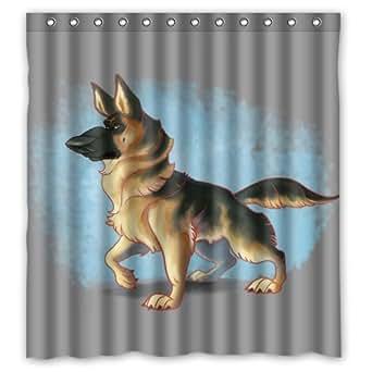 """Amazon.com: 66""""(W) x 72""""(H) Cheap Cute German Shepherd Dog"""