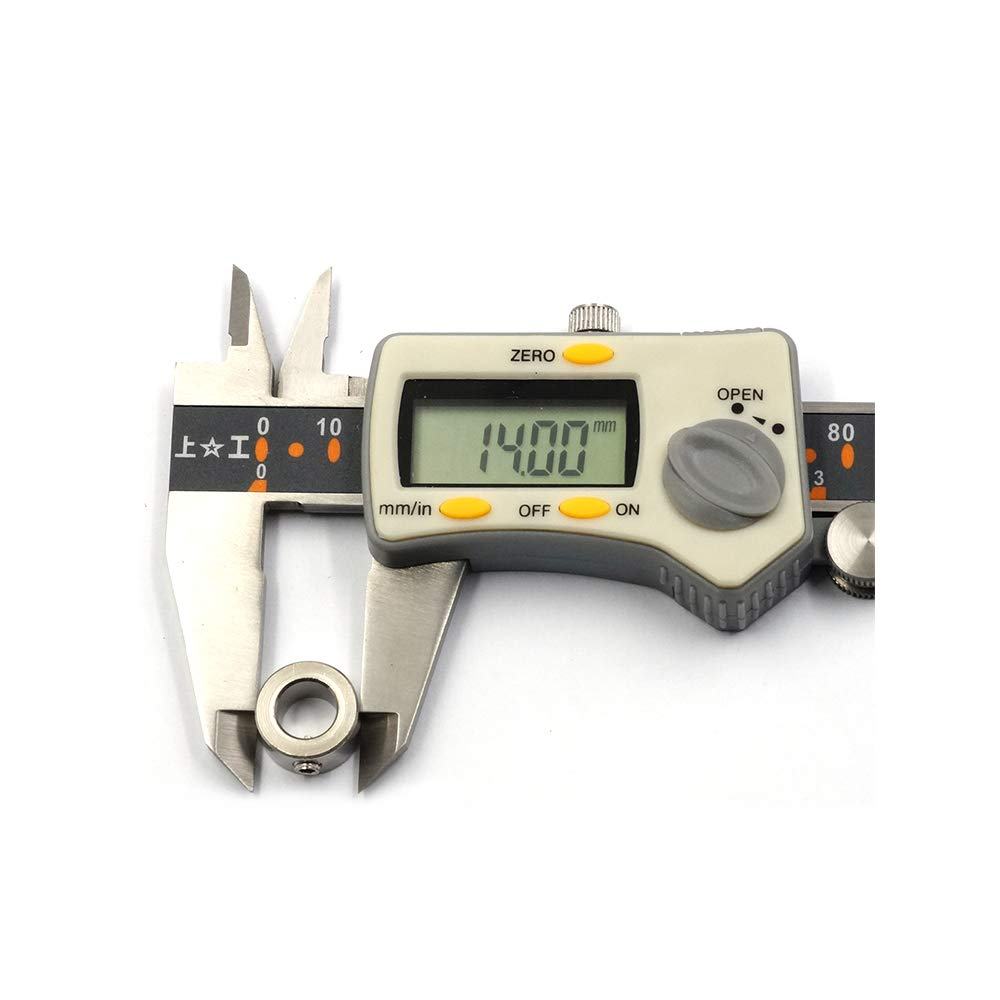 Pack of 10Pcs WINSINN 3D Printer Lock Collar T8 Lead Screw Lock Ring Block Shaft Stainless Steel Locker OX CNC Parts for V Slot Linear Extrusion