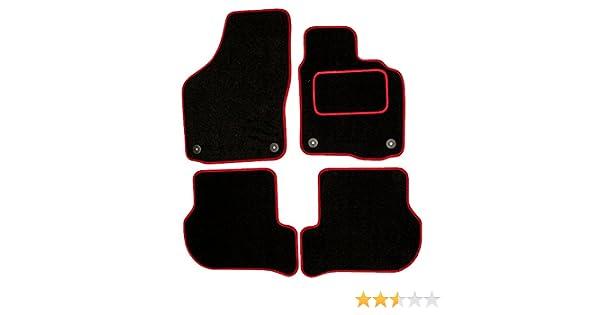 Color Negro con Ribetes Rojos Sakura SS4955RD Alfombrillas para autom/óvil con Refuerzo para el tal/ón en el Lado del Conductor para Citroen C2 Todos los a/ños de fabricaci/ón