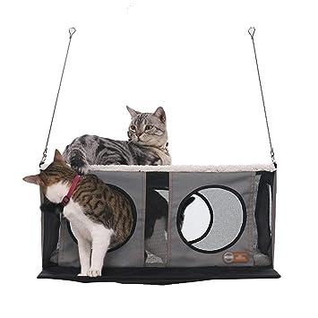 Hamacas Ventosa Hamaca Para Mascotas Hamaca Para Mascotas Gris Ventana De Vidrio Hamaca Para Gatos Gato Para Mascotas Cama Suspendida Plataforma Colgante ...