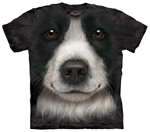 The Mountain Border Collie Adult T-Shirt, Black, Large