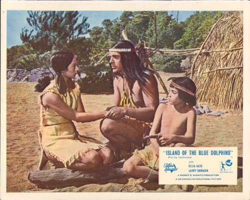 island-of-the-blue-dolphins-celia-kaye-with-indians-original-lobby-card