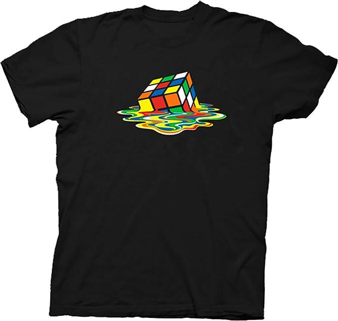 228efd657 Rubik's Cube Melting Sheldon Cooper The Big Bang Theory Black T-shirt  (Adult Small