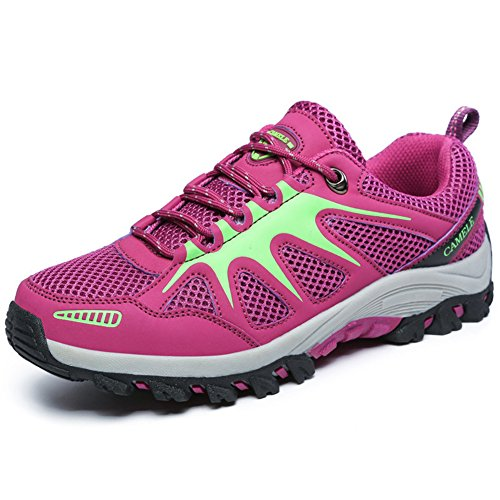 Leader Show Women's Fashion Lace Up Trail Hiking Shoes Outdoor Trekking Sneakers