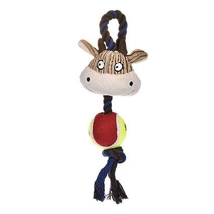 Amazon com : CHOUWUED Cotton Ropes Tennis Ball Plush Dog