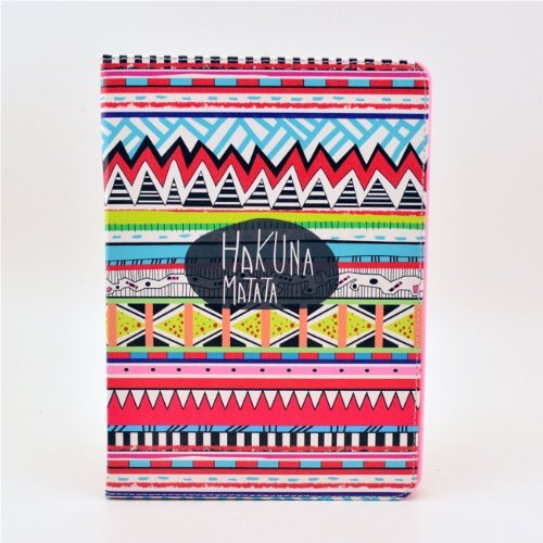 IVY KAKUNA MATATA Tribal - Fashion Cute Synthetic Leather Flip Holder Support Case Wite Soft TPU Cover Skin For Apple Ipad Air 5