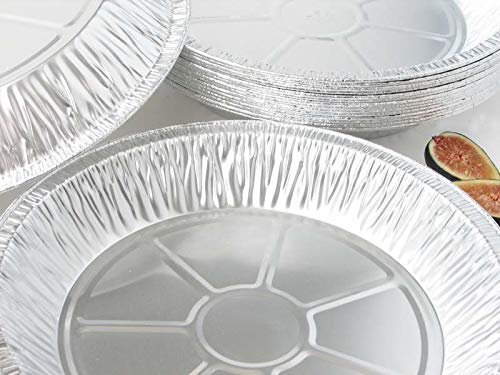 9'' Round Pie Pans (50 Pack) Disposable Aluminum Foil Pie Plates with Board lid, Standard Size, 9'' x 1.25'' by Orangehome (Image #4)