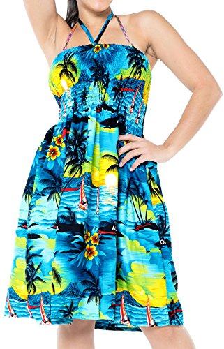 de de Tube de de Plage Maillots Turquoise Jupe Haut Sundress Maxi Licou Bain Maillot Bleu u884 vtements Bain Couvrir Femmes FW0vz