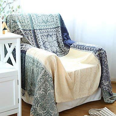 Yunyilian 綿装飾カーペットソファタオル毛布 (サイズ : W86