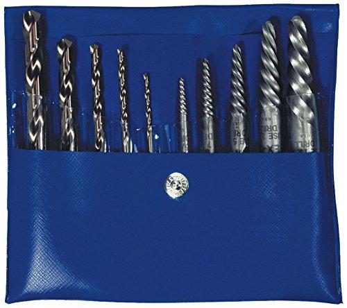 Irwin Tools 11118 10 Piece Set Spiral Flute Screw Extractors with Jobber Length Cobalt Drill Bits