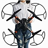 Image of Super Large RC Drone Quadcopter Kit with 2MP HD Camera 6-axis 4CH RC Helicopter Aircraft and Headless Mode Remote Control Airplane With Extra Battery (Black)
