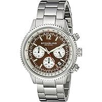 Stuhrling Original Men's 669B.03 Monaco Multi-Function Date Stainless Steel Bracelet Watch