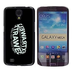 GOODTHINGS Funda Imagen Diseño Carcasa Tapa Trasera Negro Cover Skin Case para Samsung Galaxy Mega 6.3 I9200 SGH-i527 - cartel negro banda de música electrónica