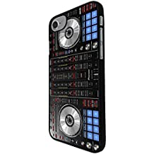 "001061 - Cool Fun Dj Mixer Turntable Vintage Retro Music Dance Clubber RnB Hip Hop Rave Club Design For iphone 8 Plus 5.5"" Fashion Trend CASE Back COVER Plastic&Thin Metal - Black"