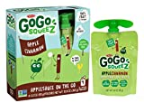 GoGo squeeZ Applesauce on the Go, Apple Cinnamon, 3.2 Ounce Portable BPA-Free Pouches, Gluten-Free, 48 Total Pouches (12 Boxes with 4 Pouches Each)