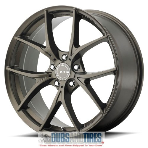 KMC KM694 Wishbone Satin Black 20x8.5 5x115 20mm (KM69428515720) (Wishbone 22)