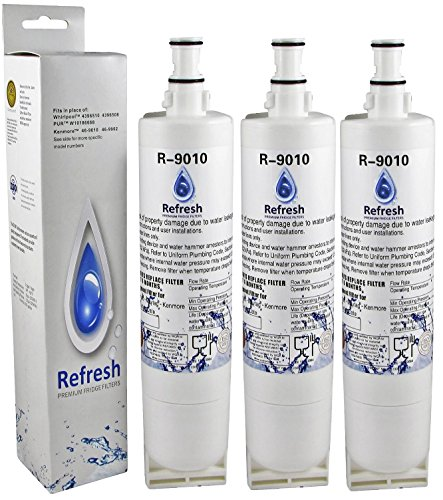 Refresh Water Filter Whirlpool 4396508, 4396510, EDR5RXD1...