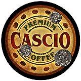 Cascio Family Name Coffee Rubber Drink Coasters - 4 pcs