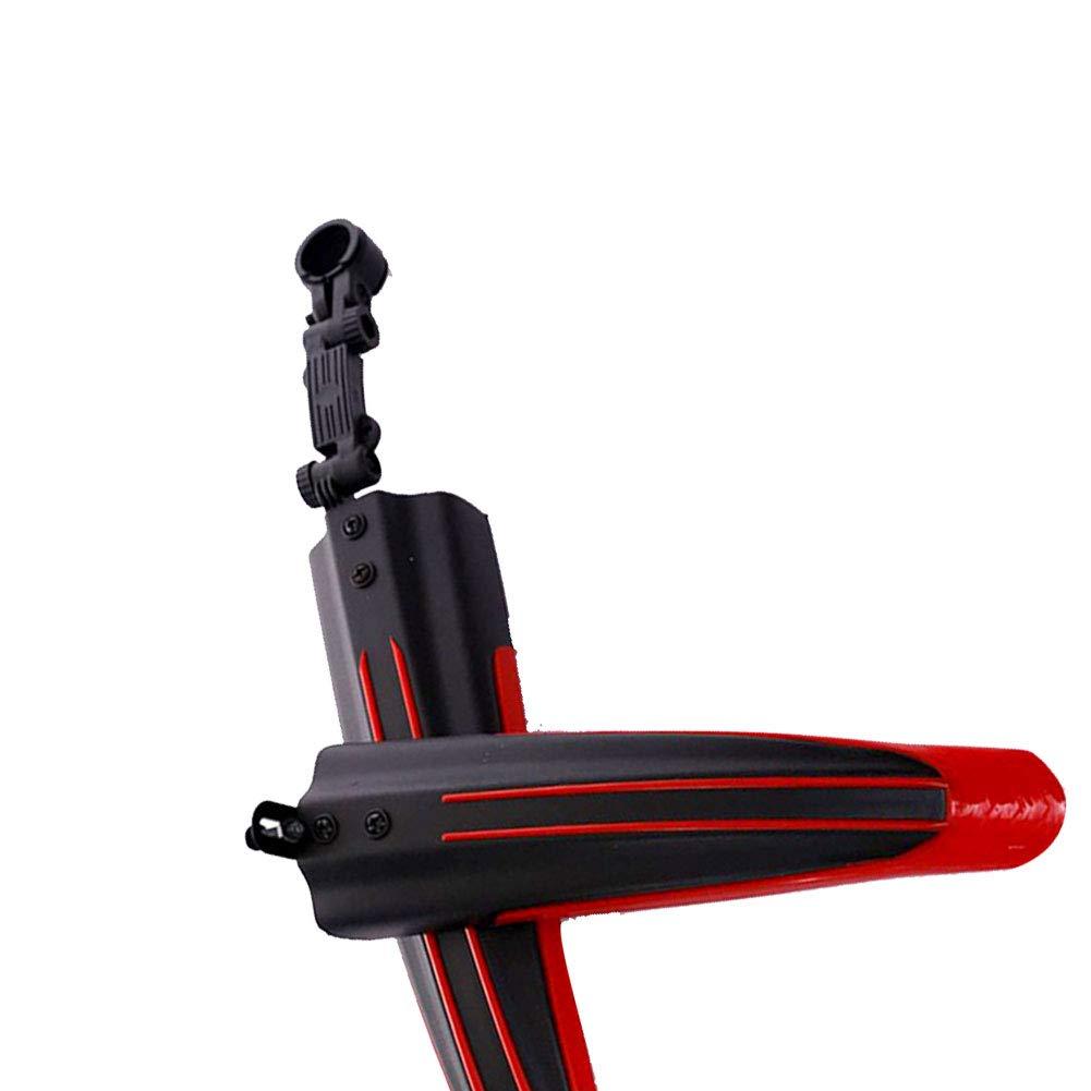 Naisidier Mountain Bike Fender Bike Tail Light Mudguards MTB Mudguard Professional Long Style Bike Mud Guard Highway Bicycle Mud Baffle 1Set Black Red