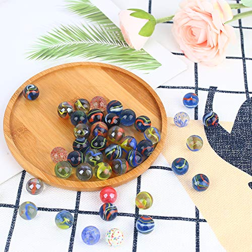 HAKACC 450g Colourful Glass Marbles,15mm Marbles Bulk for Kids Marble Games,DIY and Home Decoration