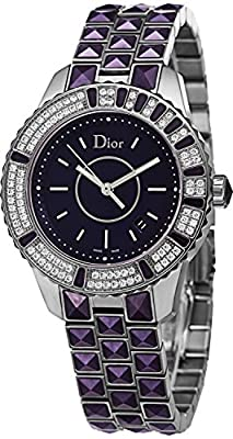 Christian Dior Women's CD11311JM001 Christal Purple Dial Diamond Watch