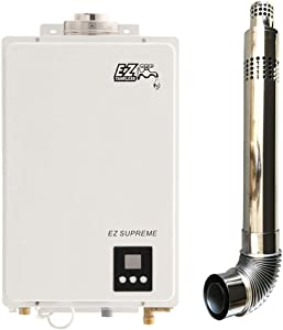 EZ Supreme Tankless Water Heater - 6.4 GPM - NG Natural Gas - Indoor Whole Home - Direct Vent Exhaust Included