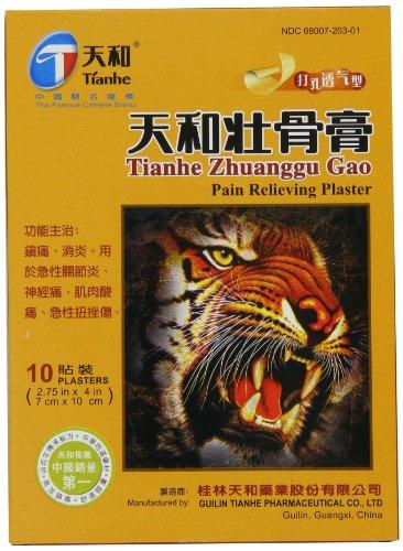 Tianhe Zhuanggu Gao douleur Soulager Plâtre - 10 patchs (2,75 x 4 po) Paquet