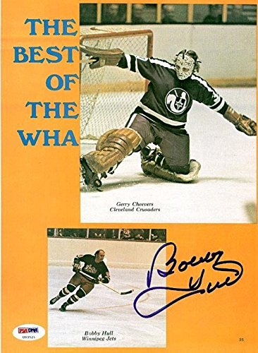 Bobby Hull Autographed Signed Magazine Page Photo Winnipeg Jets #U93521 PSA/DNA Certified Autographed NHL Magazines